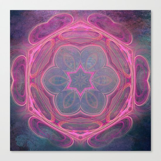 whimsical fractal love in pink Canvas Print