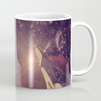 carl sagan Mugs featuring Space Exploration (Carl Sagan Quote) by taudalpoiart
