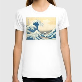 Japanese Woodblock Print The Great Wave of Kanagawa by Katsushika Hokusai T-shirt