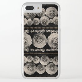 Vintage Floral with Golden Accents #1 Clear iPhone Case