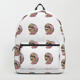 Funny girl mini white bk Backpack