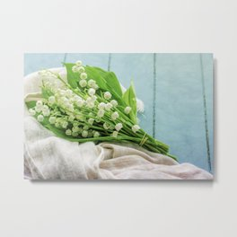 a bunch of lily of the valley Metal Print