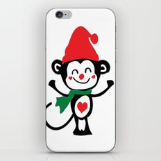 Little Monkey Santa Claus iPhone & iPod Skin