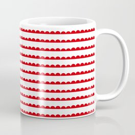 Red Scallop Coffee Mug