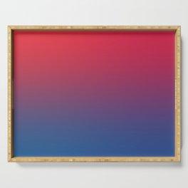 DOUBLE VISION - Minimal Plain Soft Mood Color Blend Prints Serving Tray