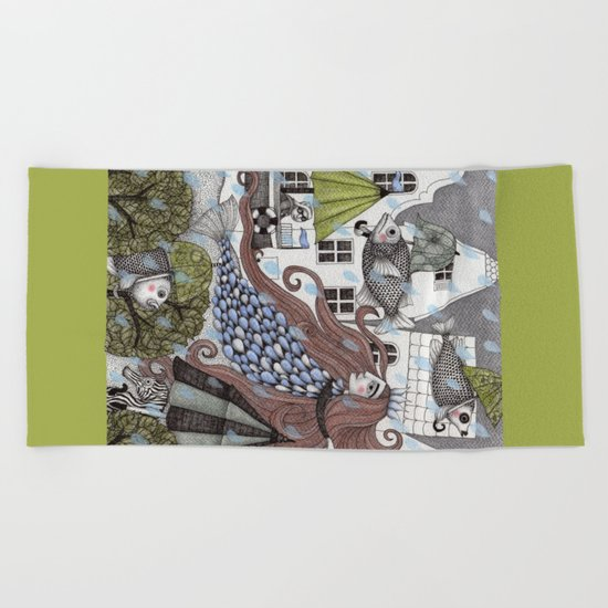 Rainy Days Beach Towel