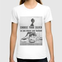 silver T-shirts featuring Silver by MADforADS