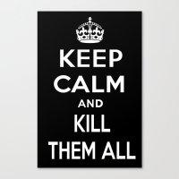 keep calm Canvas Prints featuring Keep Calm by Lunaramour