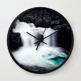 Banff Waterfall Wall Clock