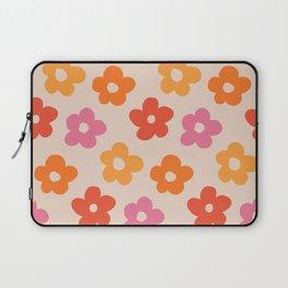 Retro 60s 70s Flowers Pattern #pattern #vintage Laptop Sleeve