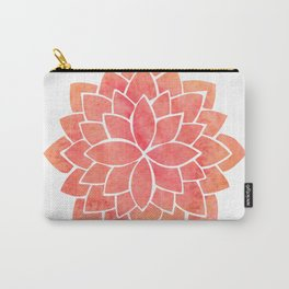 Salmon Mandala Carry-All Pouch
