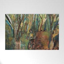 Morning Bike Ride Welcome Mat