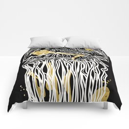 Electric Gold Jellyfish Duo Comforters
