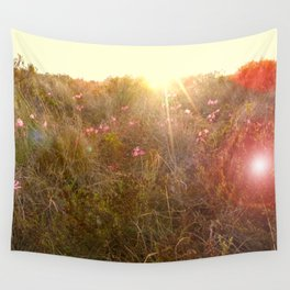 Morning Wildflower Meadow Wall Tapestry