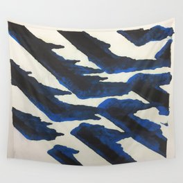 Blue Print Wall Tapestry