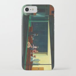Pennywise in Hopper's Nighthawks iPhone Case