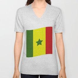 Senegal flag Unisex V-Neck