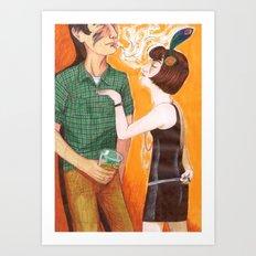 Kiss My Hand, Peasant Art Print