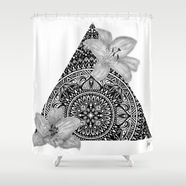 Consider the Lilies Geometric Design Shower Curtain