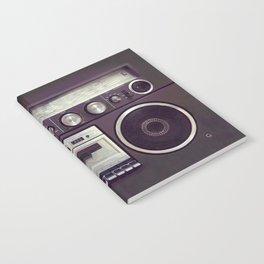 Retro Boombox Notebook