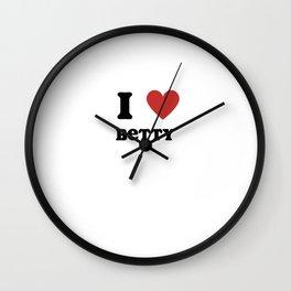 I Love Betty Wall Clock