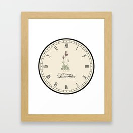 Lavender Clock Framed Art Print