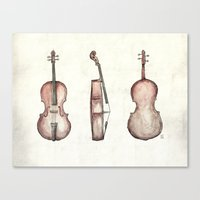 cello Canvas Prints featuring Cello by Mike Koubou