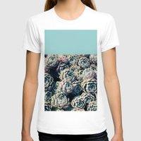 succulents T-shirts featuring Succulents by Leah Flores