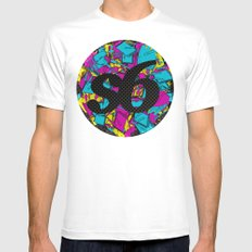 CMYK Society6 Mens Fitted Tee White MEDIUM