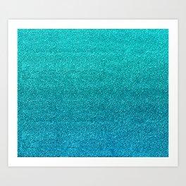 Faux Glitter Art Print