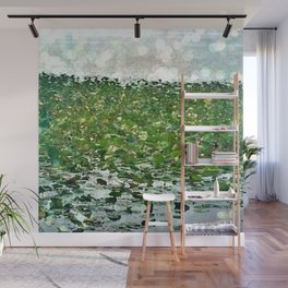Lily Pads On The River Wall Mural