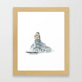 Edifidio Swcheppes, Gran Vía Framed Art Print