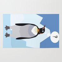 penguin Area & Throw Rugs featuring Penguin by Nir P