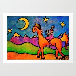 Doodle Rider Art Print