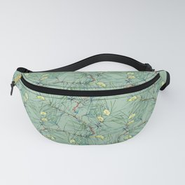 Pattern of pine branches and needles Fanny Pack