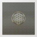 Flower of life metallic embossed by k9printart