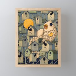 Birdhouses Framed Mini Art Print