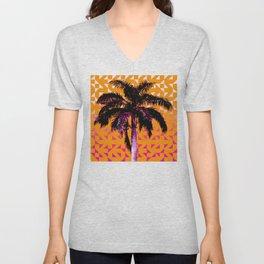 Palm Tree (Orange Pink) Unisex V-Neck