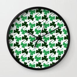 Shamrock - Clover Pattern  Wall Clock
