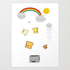 Flying Toast Art Print