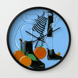 Haircut with Oranges Wall Clock