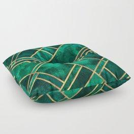Emerald Blocks Floor Pillow