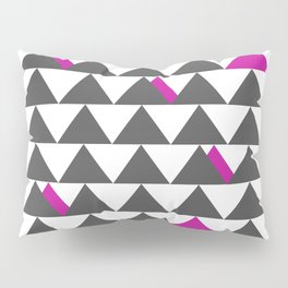 Gray and Pink Triangles Pillow Sham