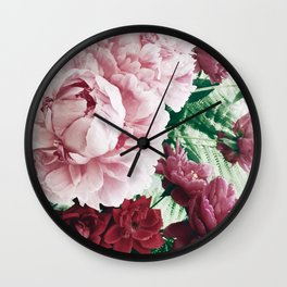 Peony Passion 2 Wall Clock