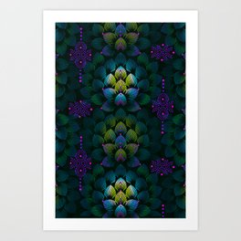Variations on A Feather IV - Stars Aligned (Primeval Edition) Art Print