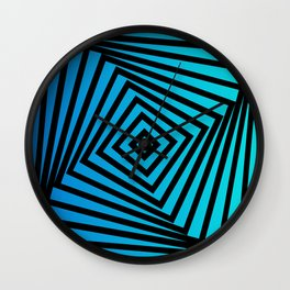 Squares twirling from the Center. Optical Illusion of Perspective bu Squares twirling Wall Clock