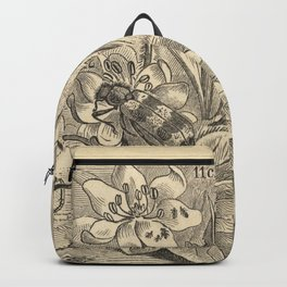 Antique Bee  Enemies Illustration Backpack
