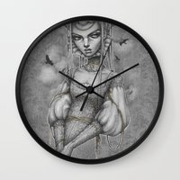 raven Wall Clocks featuring Raven by Zan Von Zed