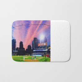 SD Padres Stadium at Night Bath Mat