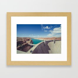 Glen Canyon Dam Framed Art Print